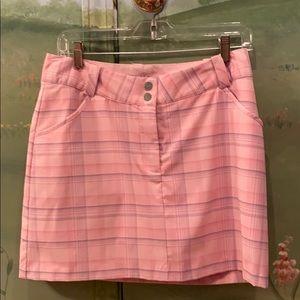 Nike Dri-Fit pink plaid golf skirt